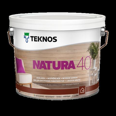 TEKNOS NATURA 40/ТЕКНОС НАТУРА 40 Полуглянцевый лак для внутренних поверхностей