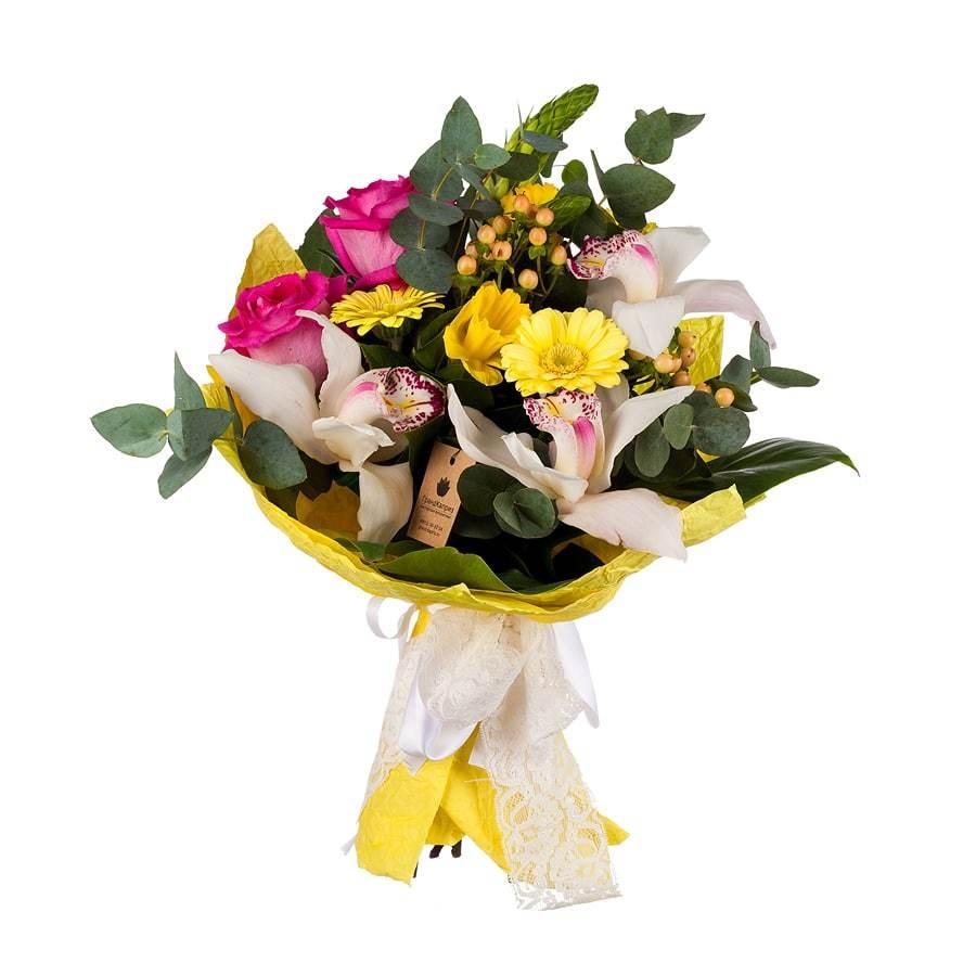 Букет из роз и орхидей - Мое солнышко