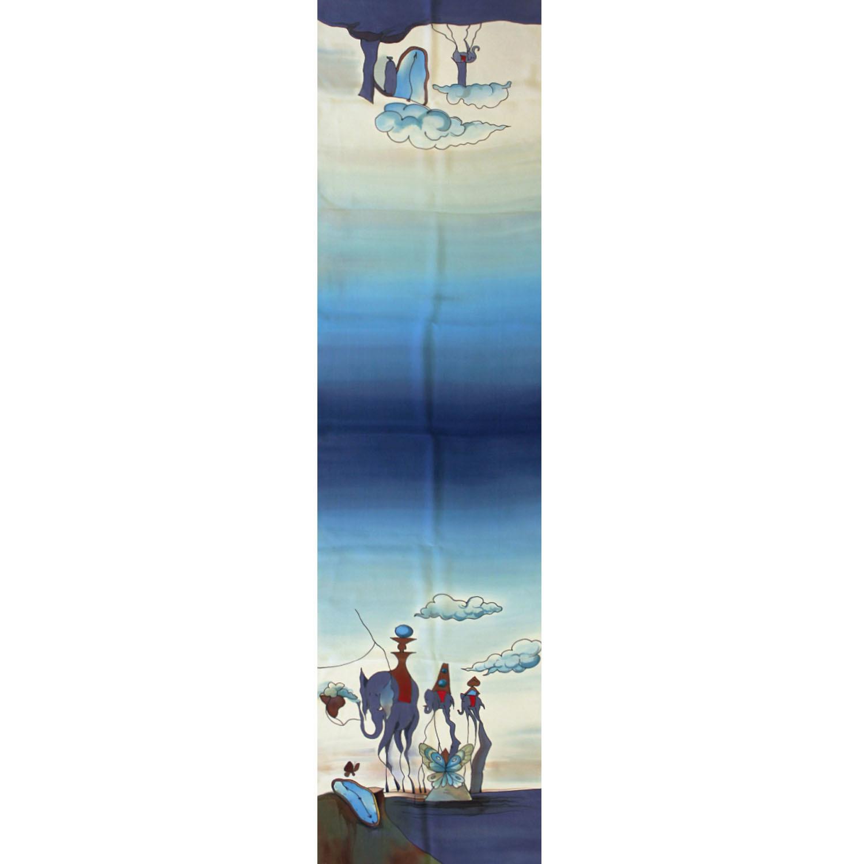 Шелковый шарф батик Сальвадор Дали
