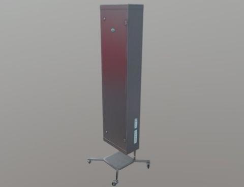 Облучатель-рециркулятор бактерицидный  «СИБЭСТ-150КС» с передвижной платформой«П № 2» нержавеющая сталь