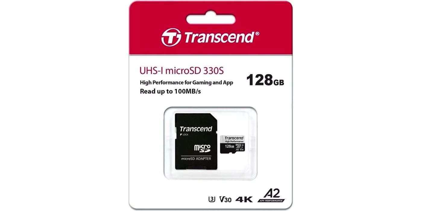 Карта памяти microSDXC 128GB Transcend Class 10 UHS-I U3 High Performance упаковка