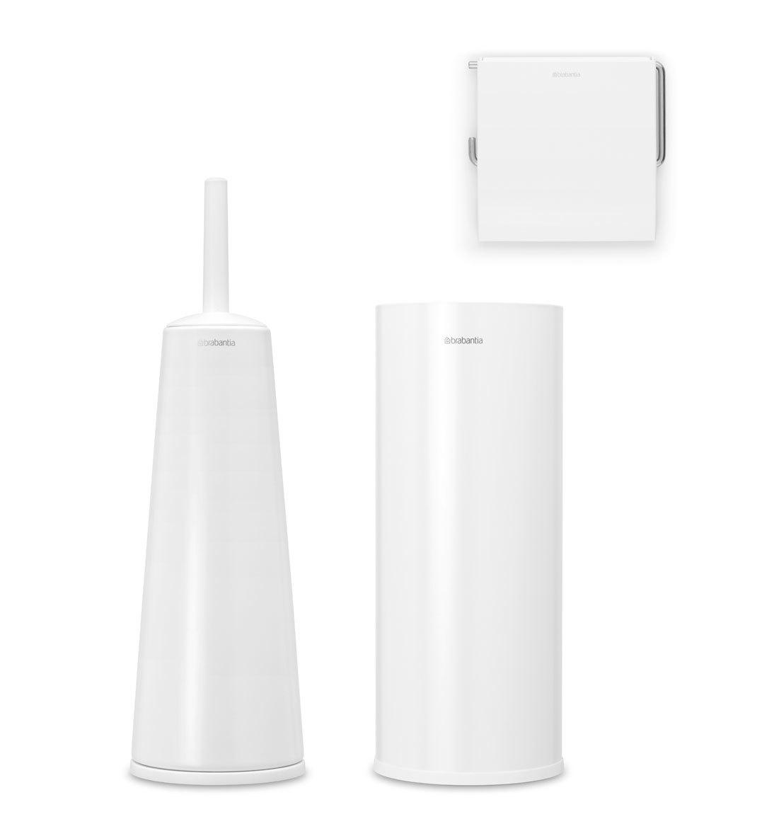 Набор аксессуаров для туалетной комнаты ReNew, 3 пр., Белый, арт. 280627 - фото 1