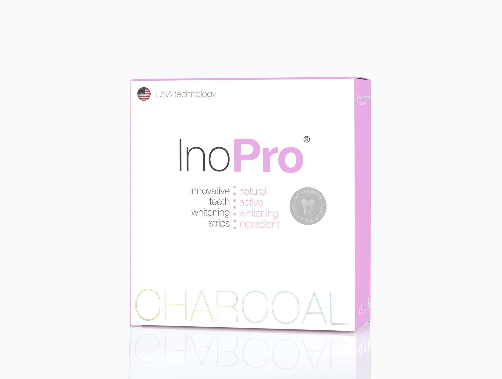 Полоски отбеливающие InoPro Charcaol Whitening Strips