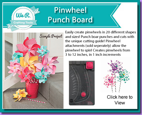 Доска для изготовления вертушек Pinwheel Punch Board