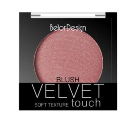 BelorDesign Румяна для лица Velvet Touch тон 102 розово-персиковый