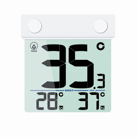 Термометр цифровой на липучке с солнечной батареей RST01389