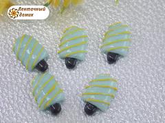 Пластиковый декор Эскимо на палочке мятное