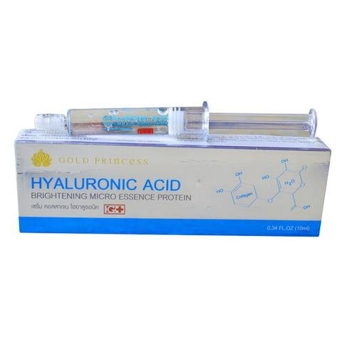 Сыворотка для лица с гиалуроновой кислотой Gold Princess Hialuronic Acid brightening micro essence protein
