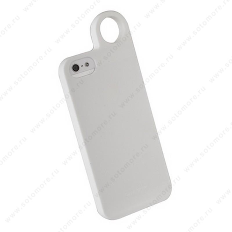 Накладка REMAX для iPhone SE/ 5s/ 5C/ 5 с кольцом белая