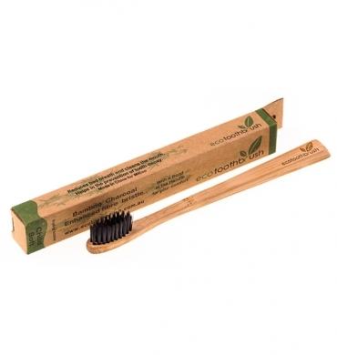 Зубная щетка из бамбука(угольная,мягкая (Mini) Ecotoothbrush