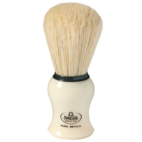 Помазок для бритья натуральный кабан Omega 10066
