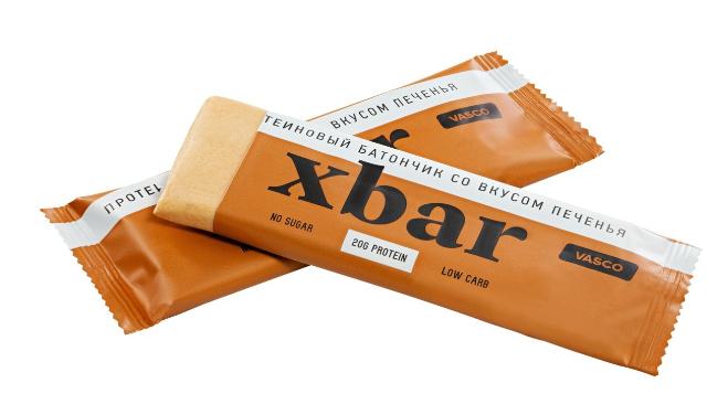 Протеиновый батончик «Xbar» со вкусом  сливочного печенья Vasco nutrition 60 гр