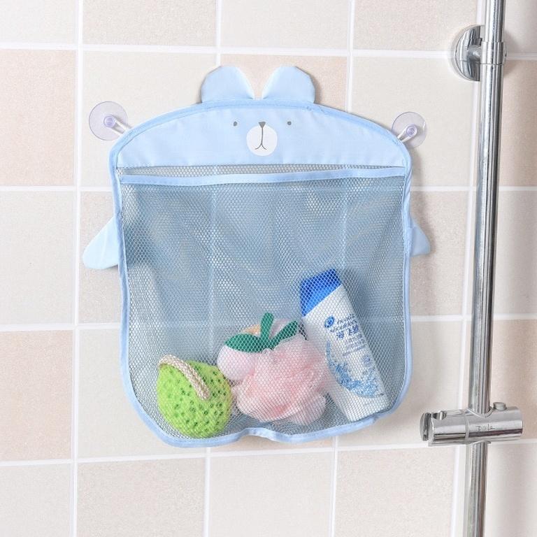 Настенная косметичка на присосках сетка для хранения игрушек в ванной комнате Голубая собака фото