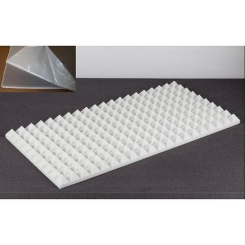 негорючая  акустическая панель  Пирамида ECHOTON FIREPROOF 100x50x5cm  из материала  BASOTECT белый с адгезивным слоем