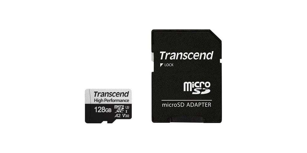 Карта памяти microSDXC 128GB Transcend Class 10 UHS-I U3 High Performance комплект