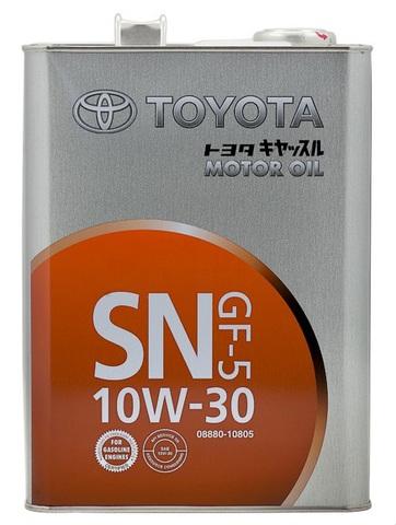 TOYOTA 10W30 SN Масло моторное полусинт. SN/CF, GF-5 (железо/Япония)