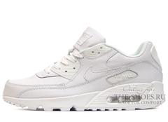 Кроссовки Мужские Nike Air Max 90 White Leather