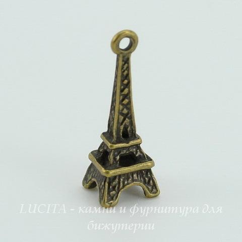 "Подвеска ""Эйфелева башня"" 3D 25х9 мм (цвет - античная бронза) ()"