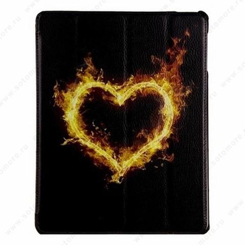Чехол-книжка Jisoncase PU для Apple iPad Air 1 с рисунком черный вид 102