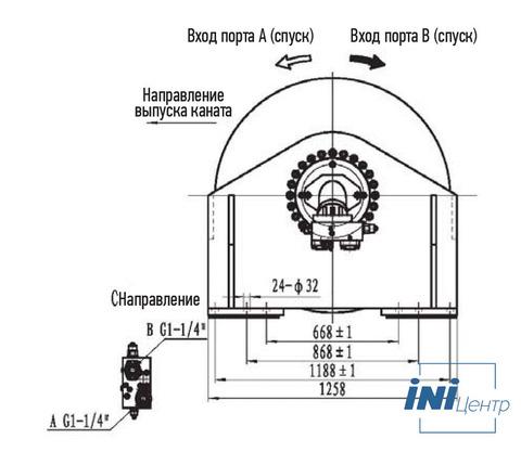 Стандартная лебедка IYJ477-250-280-36-ZPG