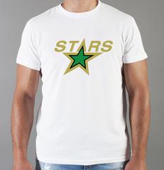 Футболка с принтом НХЛ Даллас Старз (NHL Dallas Stars) белая 001