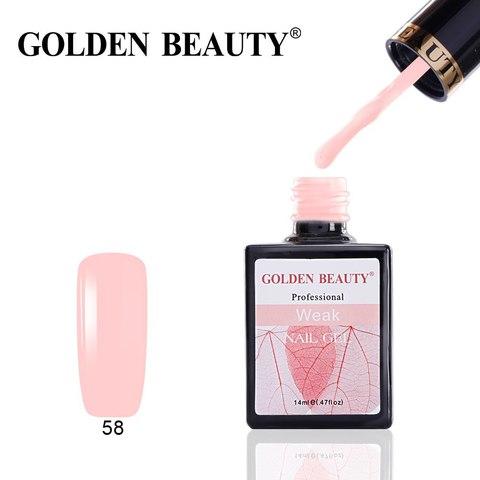 Гель лак Golden Beauty  14 ml. Weak