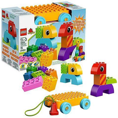 LEGO Duplo: Веселая каталка с кубиками 10554 — Toddler Build and Pull Along — Лего Дупло