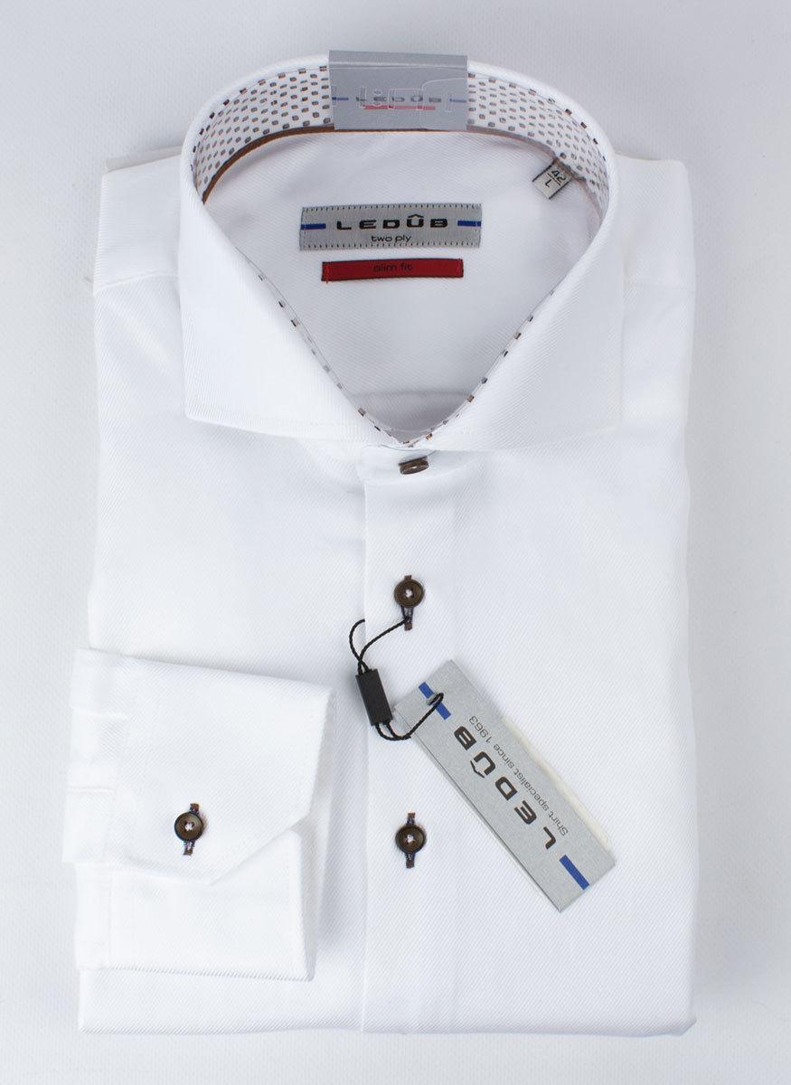 Рубашка Ledub slim fit 0136389-910-640-670-SF-White