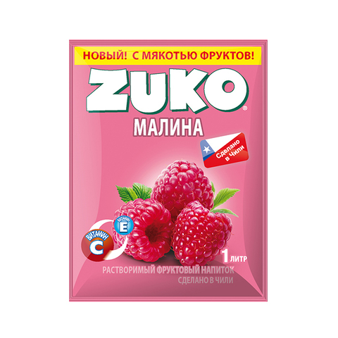 Растворимый напиток Zuko Малина (блок 12 пакетов)