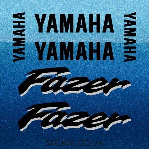 Набор виниловых наклеек на мотоцикл YAMAHA FZS600 FAZER 1998