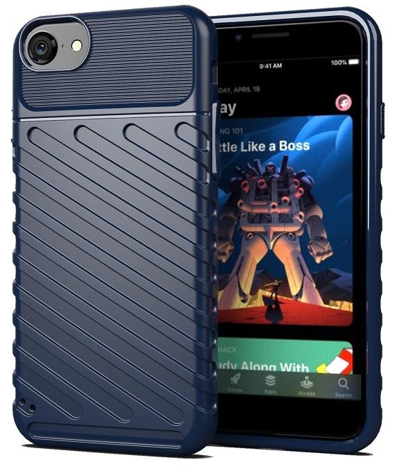 Противоударный чехол для iPhone SE (2020) темно-синего цвета, серии Onyx от Caseport