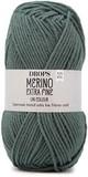 Пряжа Drops Merino Extra Fine 37 серо-зеленый