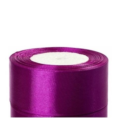 Лента атласная (размер:40мм х 25 ярдов) Цвет:фиолетовый