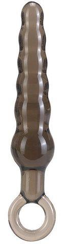 Дымчатая фигурная анальная ёлочка ANAL STICK - 14 см.
