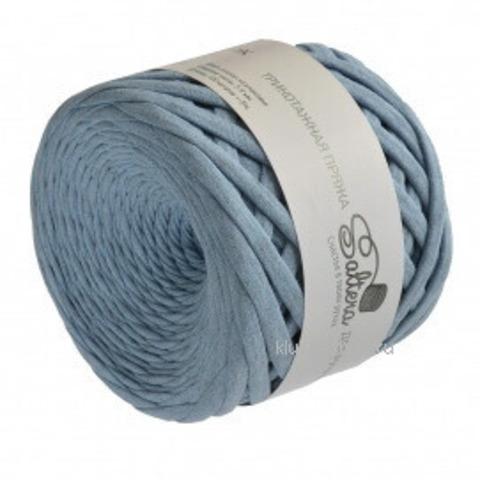 Трикотажная пряжа Saltera 107 голубой меланж, фото
