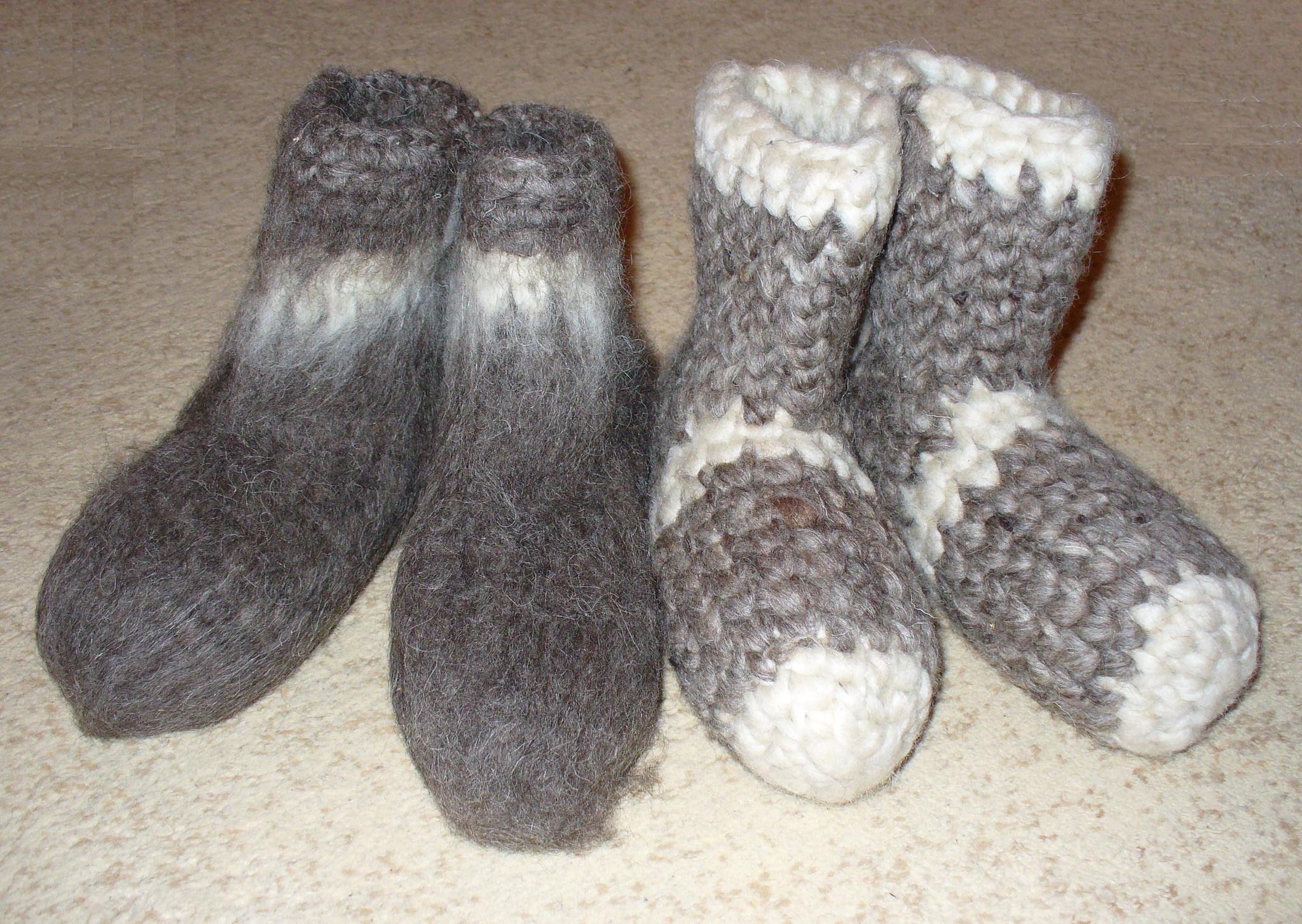 Носки - валенки шерстяные