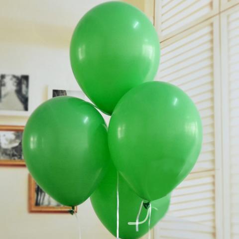 Воздушные шары с гелием зеленые