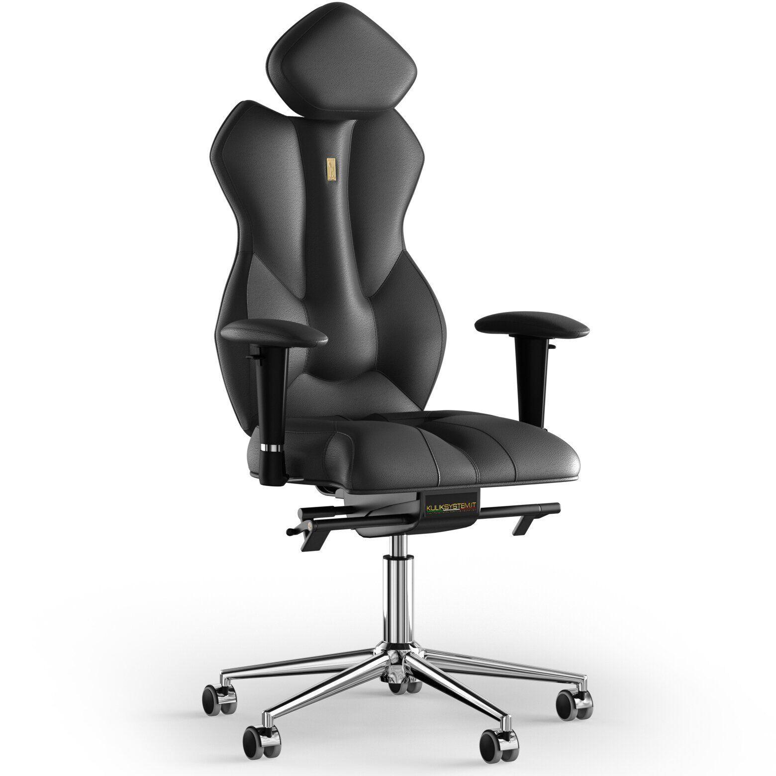 Кресло KULIK SYSTEM ROYAL Кожа с подголовником без строчки