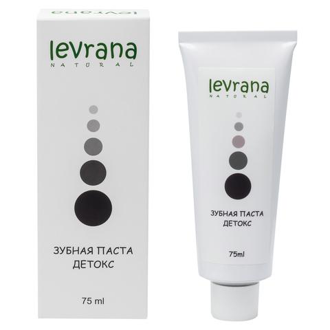 Levrana, Зубная паста Детокс черная, 75мл