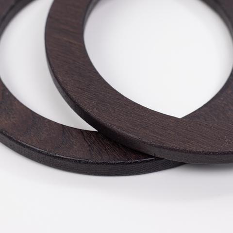 Деревянные ручки (массив ясеня) для сумки N21 темно-коричневые