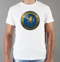 Футболка с принтом FC Chelsea (ФК Челси) белая 0014