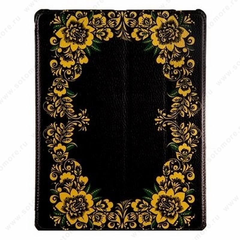 Чехол-книжка Jisoncase PU для Apple iPad Air 1 с рисунком черный вид 106