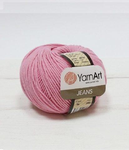Пряжа YarnArt JEANS - (36-розовый)
