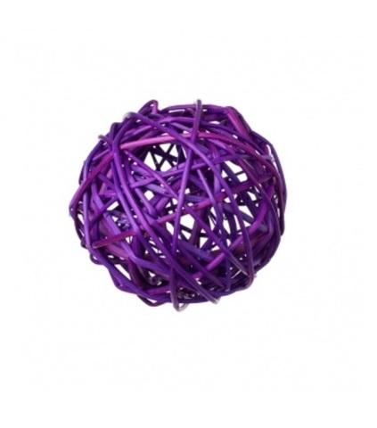 Плетеные шары из ротанга (набор:6 шт., d10см, цвет: фиолетовый)