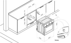 Встраиваемый духовой шкаф Korting OKB 560 CFX схема