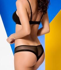 Черный комплект эротичного белья Rebecca