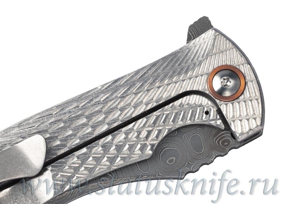 Нож Les George Harpy Full Custom Damascus - фотография