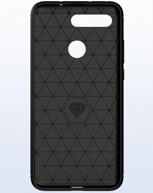 Чехол Honor V20 (View 20) цвет Black (черный), серия Carbon, Caseport