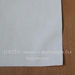 Замша искусств., молочная, лист 30х20 см