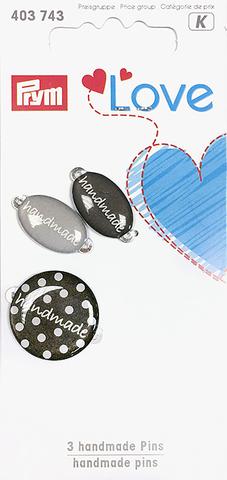 Эмблемы Handmade. Prym Love.. (серые)  (Арт. 403743)